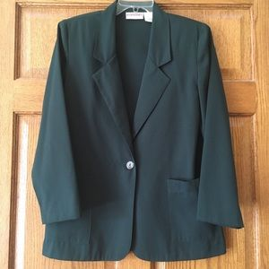 Deep Green Worthington Petite Essentials Jacket 8P